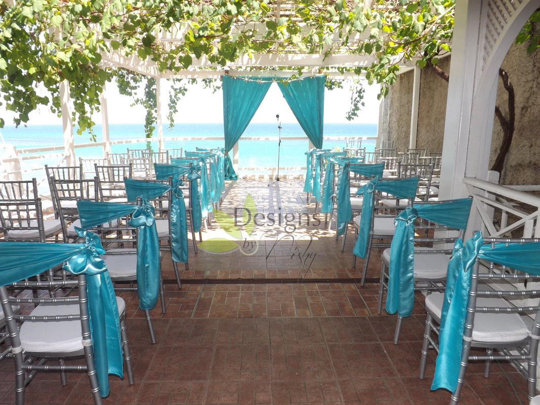 Turquoise Destination Wedding At Hibiscus Lodge Hotel In Ocho Rios